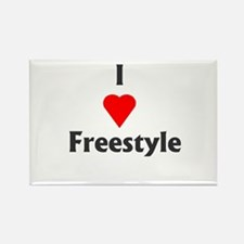 I Love Freestyle Rectangle Magnet