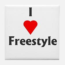 I Love Freestyle Tile Coaster