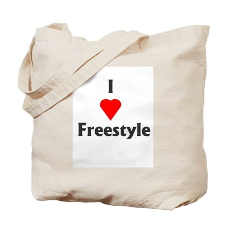 I Love Freestyle Tote Bag