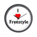 I Love Freestyle Wall Clock