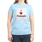 I Love Freestyle Women's Pink T-Shirt