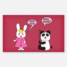 Panda Rabbi Engrish Rectangle Decal
