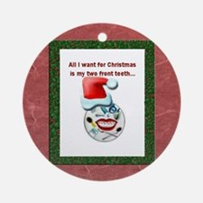 Dental Holidays Ornament (Round)