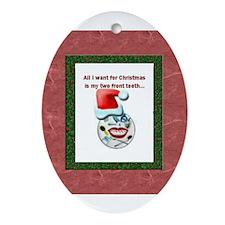 Dental Holidays Oval Ornament