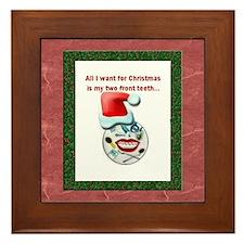 Dental Holidays Framed Tile