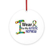 I Wear Puzzle Ribbon 21 (Nephew) Ornament (Round)