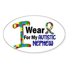 I Wear Puzzle Ribbon 21 (Nephew) Oval Decal