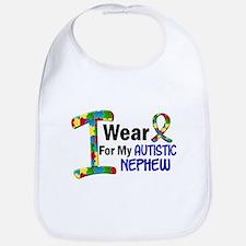 I Wear Puzzle Ribbon 21 (Nephew) Bib