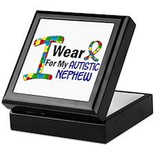 I Wear Puzzle Ribbon 21 (Nephew) Keepsake Box