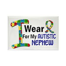 I Wear Puzzle Ribbon 21 (Nephew) Rectangle Magnet