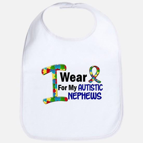I Wear Puzzle Ribbon 21 (Nephews) Bib