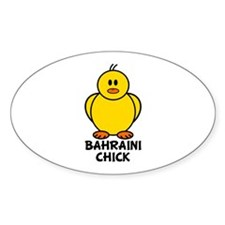 Bahraini Chick Oval Decal