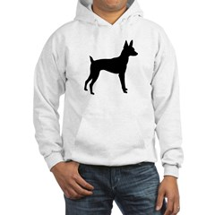 Toy Fox Terrier Hooded Sweatshirt