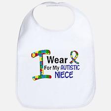 I Wear Puzzle Ribbon 21 (Niece) Bib