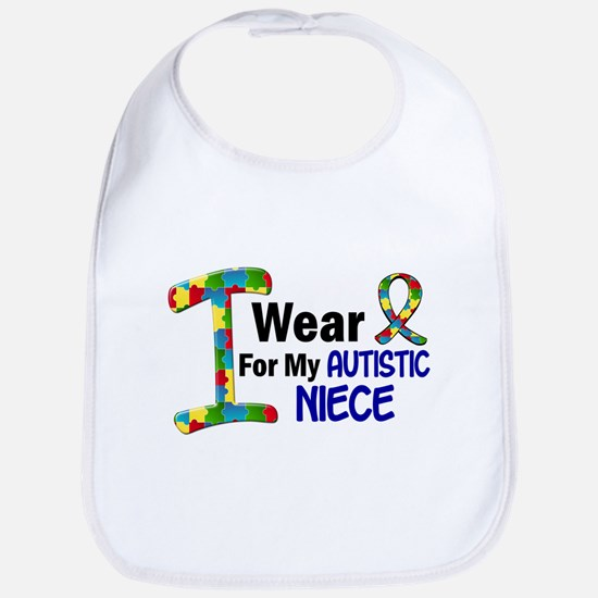 I Wear Puzzle Ribbon 21 (Niece) Bib
