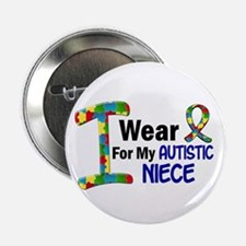 "I Wear Puzzle Ribbon 21 (Niece) 2.25"" Button (10 p"