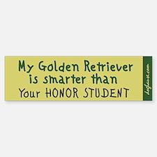Golden Retriever Bumper Bumper Bumper Sticker