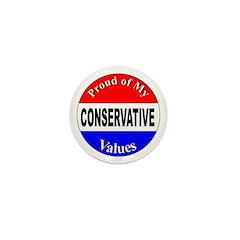 Proud Conservative Values Mini Button (10 pack)