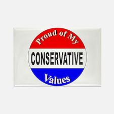 Proud Conservative Values Rectangle Magnet