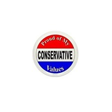 Proud Conservative Values Mini Button