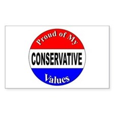 Proud Conservative Values Rectangle Decal