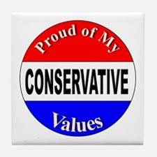 Proud Conservative Values Tile Coaster