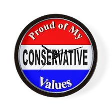 Proud Conservative Values Wall Clock