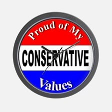 Proud Conservative Values Wall Clock