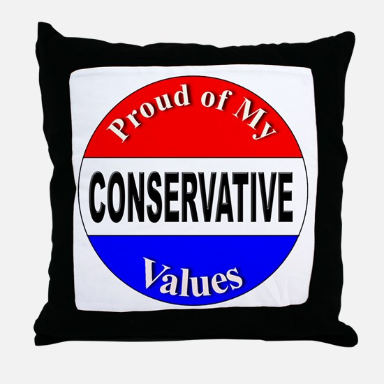 Proud Conservative Values Throw Pillow