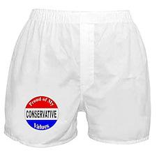 Proud Conservative Values Boxer Shorts