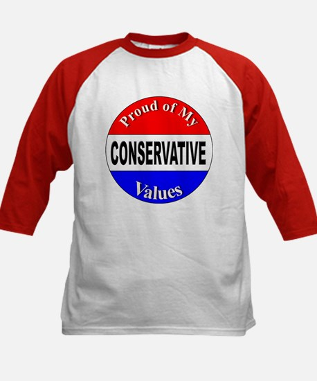 Proud Conservative Values (Front) Kids Baseball Je