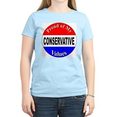 Proud Conservative Values Women's Pink T-Shirt