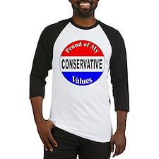 Proud Conservative Values Baseball Jersey