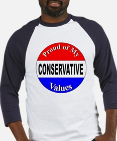 Proud Conservative Values (Front) Baseball Jersey