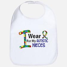 I Wear Puzzle Ribbon 21 (Nieces) Bib