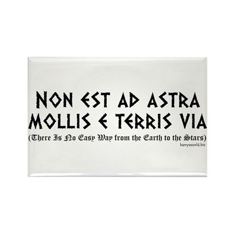 Non est ad astra Rectangle Magnet (10 pack)