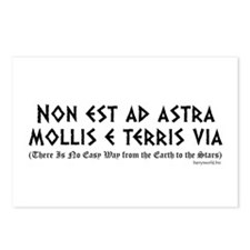 Non est ad astra Postcards (Package of 8)