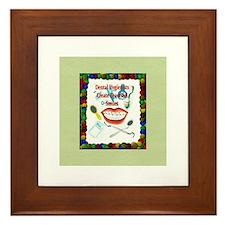 Dental Hygiene Framed Tile