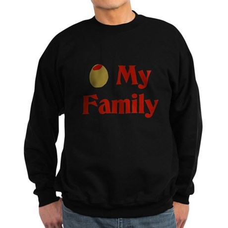 Olive (I Love) My Family Sweatshirt (dark)