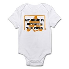 home between the pipes Infant Bodysuit