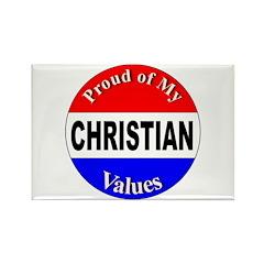 Proud Christian Values Rectangle Magnet