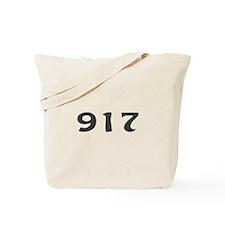 917 Area Code Tote Bag