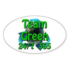 Team Green 24/7 365 Oval Decal