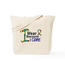 I Wear Puzzle Ribbon 21 (I Care) Tote Bag