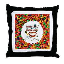 Dentist Jelly Beans Throw Pillow