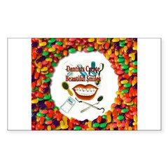 Dentist Jelly Beans Rectangle Decal