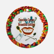 Dentist Jelly Beans Ornament (Round)