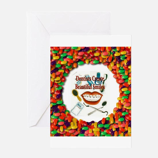 Dentist Jelly Beans Greeting Card