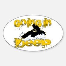 Going In Deep Oval Decal