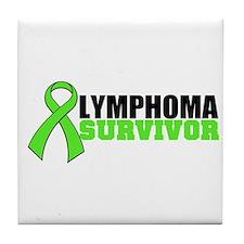 Lymphoma Survivor Tile Coaster